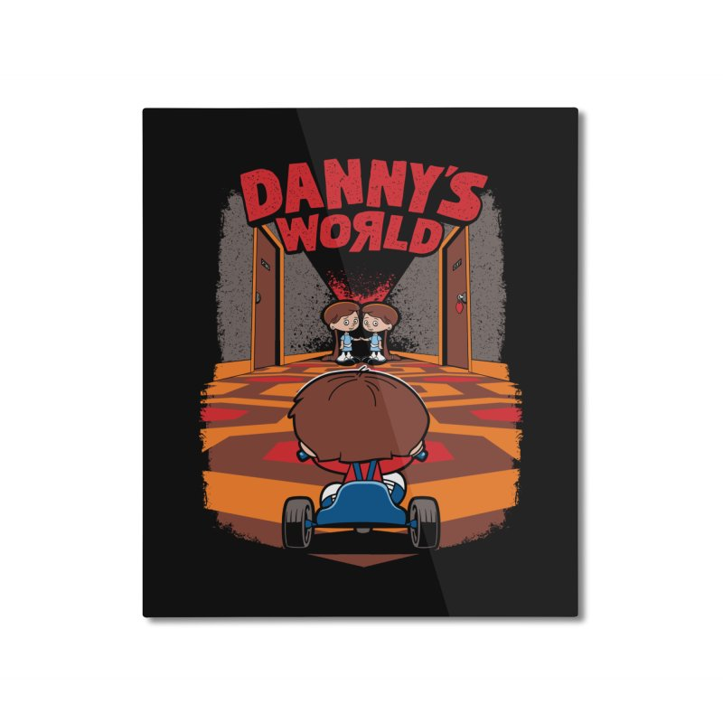 Danny's World Home Mounted Aluminum Print by Tom Burns