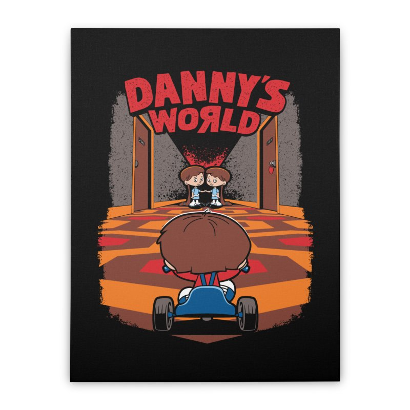 Danny's World Home Stretched Canvas by Tom Burns