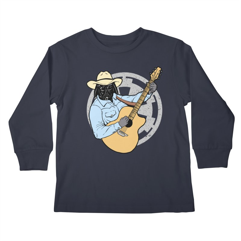 Darth Brooks Kids Longsleeve T-Shirt by Tom Burns