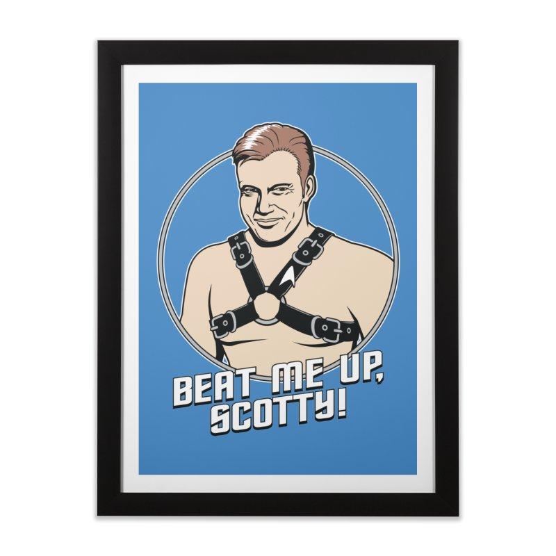 Beat Me Up, Scotty Home Framed Fine Art Print by Tom Burns