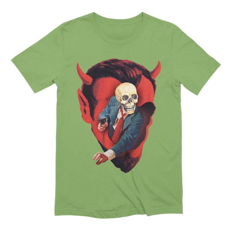 Devilhead Skullman Men's Extra Soft T-Shirt by Tom Burns