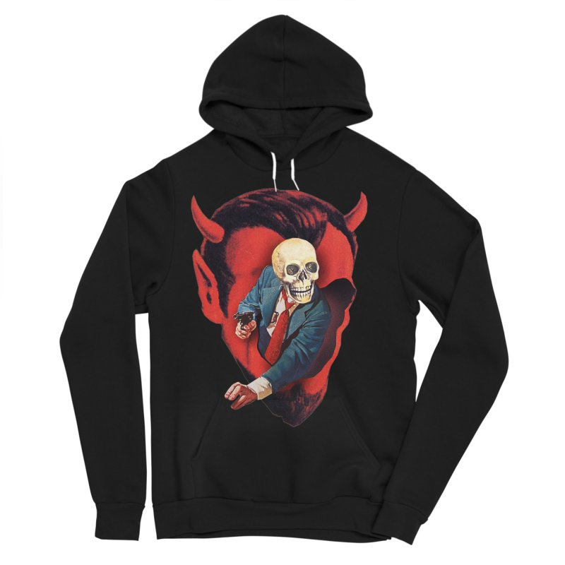 Devilhead Skullman Women's Sponge Fleece Pullover Hoody by Tom Burns