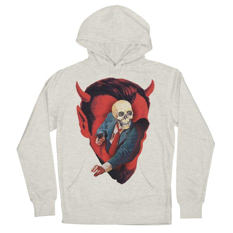 Devilhead Skullman Men's French Terry Pullover Hoody by Tom Burns