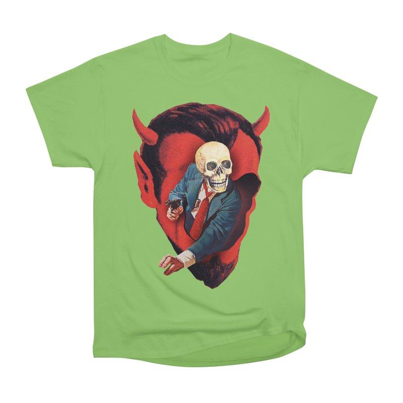 Devilhead Skullman Women's Heavyweight Unisex T-Shirt by Tom Burns