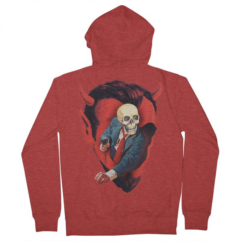 Devilhead Skullman Women's French Terry Zip-Up Hoody by Tom Burns