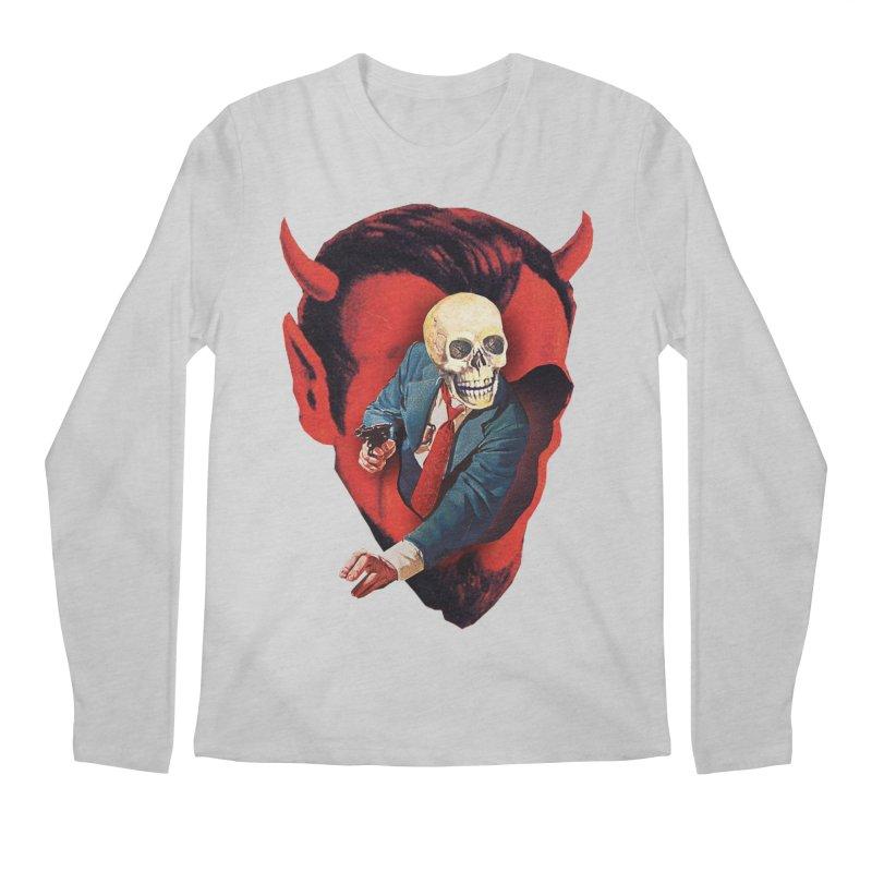 Devilhead Skullman Men's Regular Longsleeve T-Shirt by Tom Burns