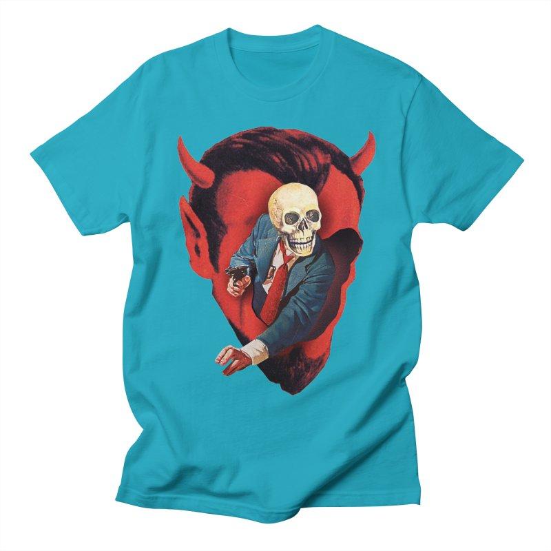 Devilhead Skullman Men's Regular T-Shirt by Tom Burns