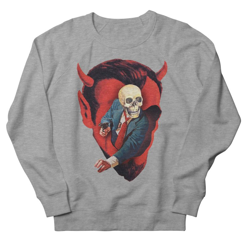 Devilhead Skullman Men's French Terry Sweatshirt by Tom Burns