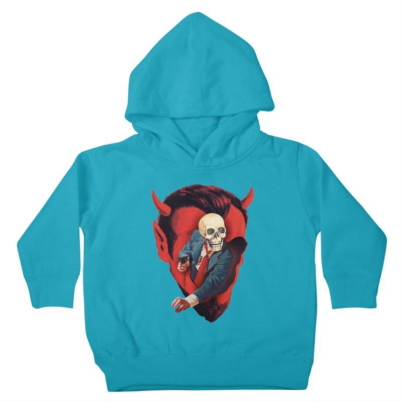 Devilhead Skullman Kids Toddler Pullover Hoody by Tom Burns