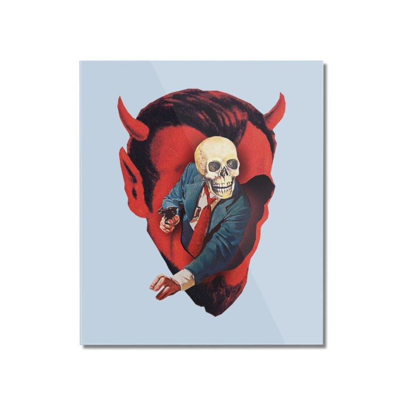 Devilhead Skullman Home Mounted Acrylic Print by Tom Burns