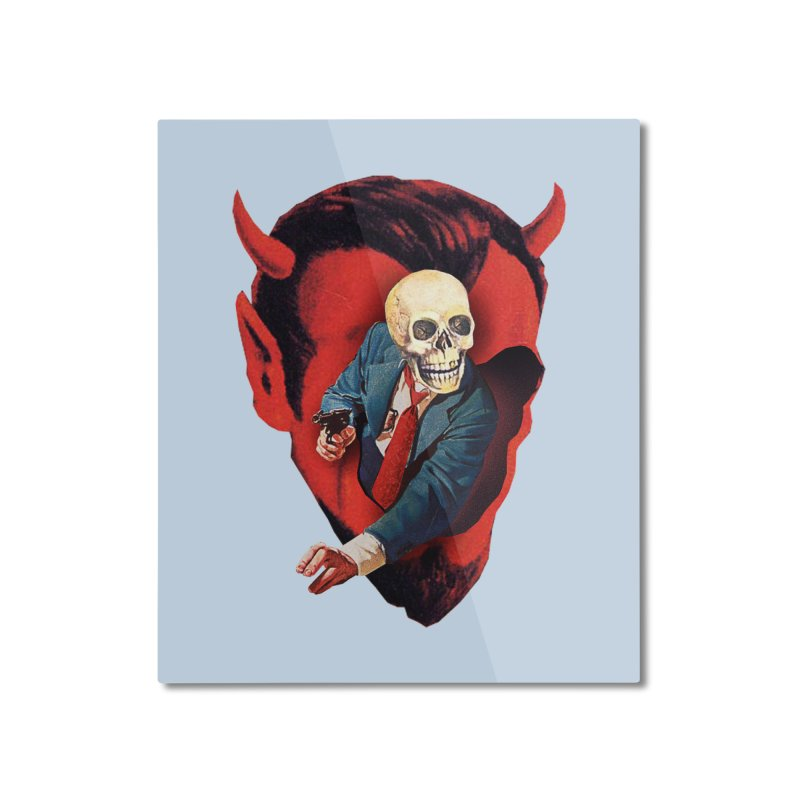 Devilhead Skullman Home Mounted Aluminum Print by Tom Burns