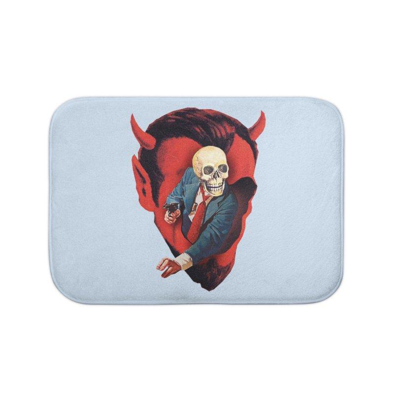 Devilhead Skullman Home Bath Mat by Tom Burns