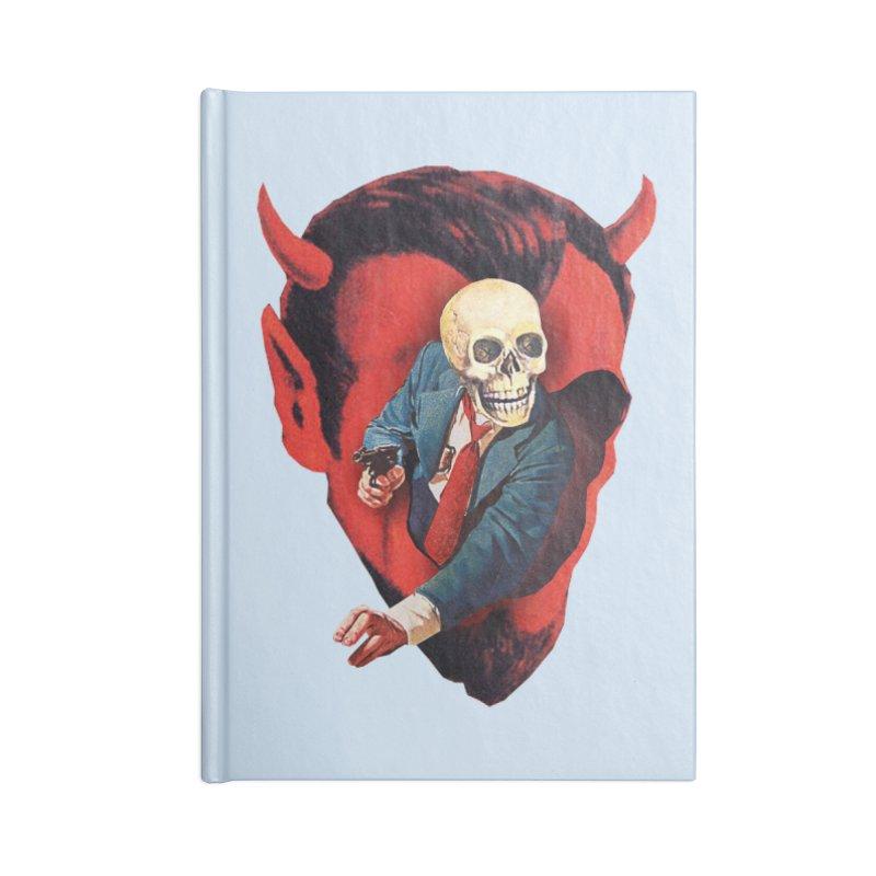 Devilhead Skullman Accessories Blank Journal Notebook by Tom Burns