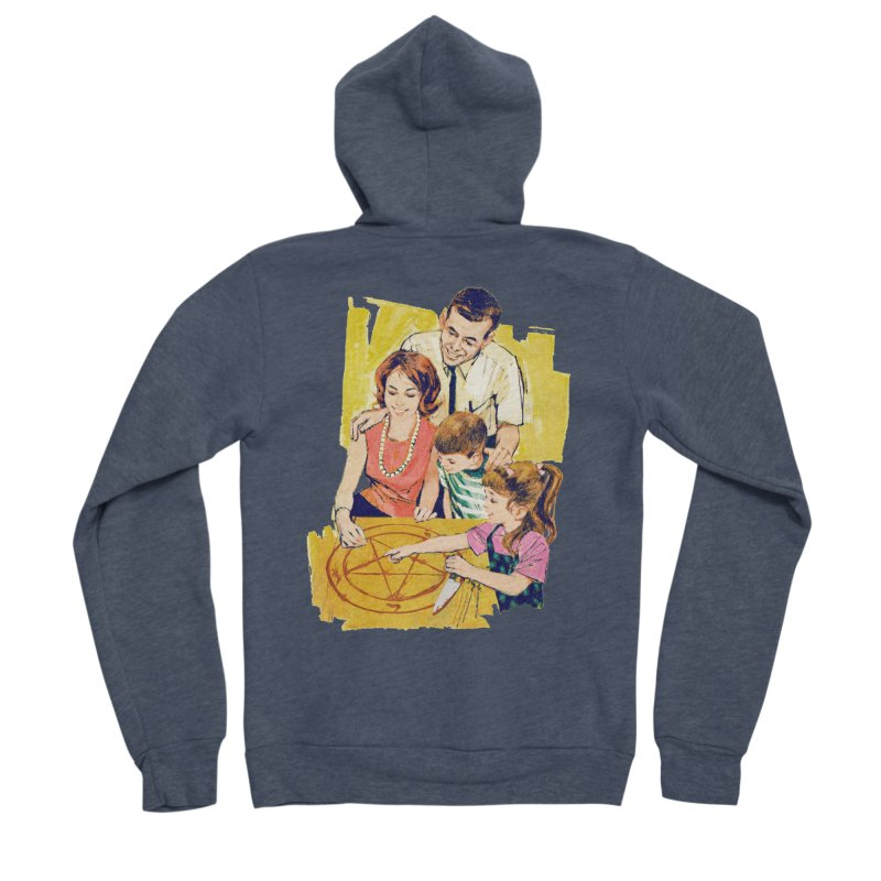 Family Summoning Men's Sponge Fleece Zip-Up Hoody by Tom Burns