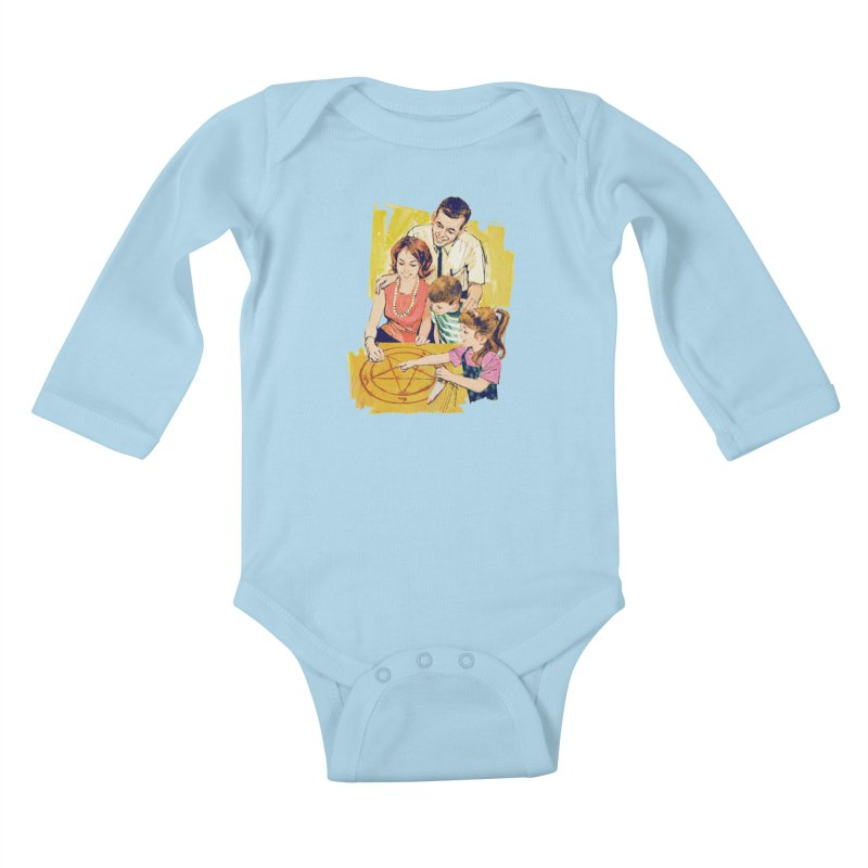 Family Summoning Kids Baby Longsleeve Bodysuit by Tom Burns