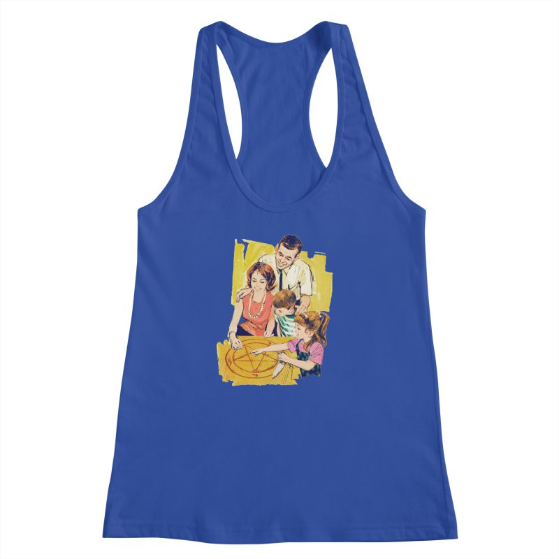 Family Summoning Women's Racerback Tank by Tom Burns