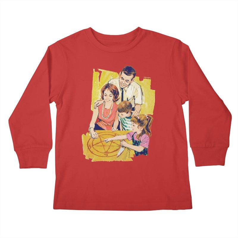 Family Summoning Kids Longsleeve T-Shirt by Tom Burns