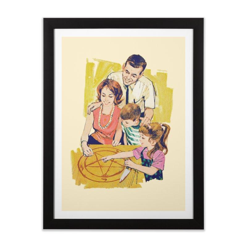 Family Summoning Home Framed Fine Art Print by Tom Burns