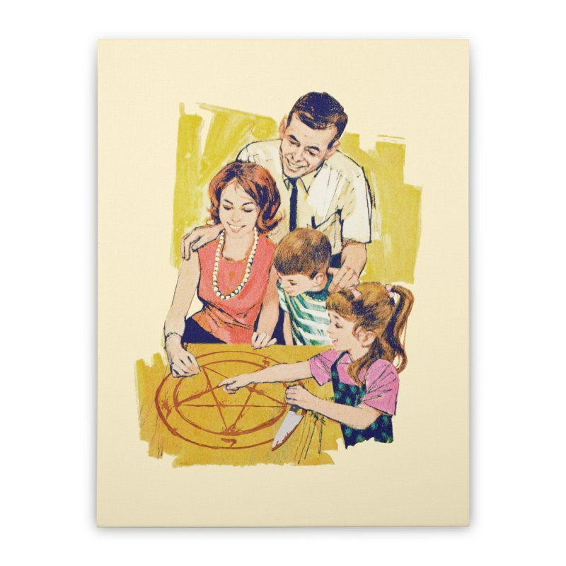 Family Summoning Home Stretched Canvas by Tom Burns