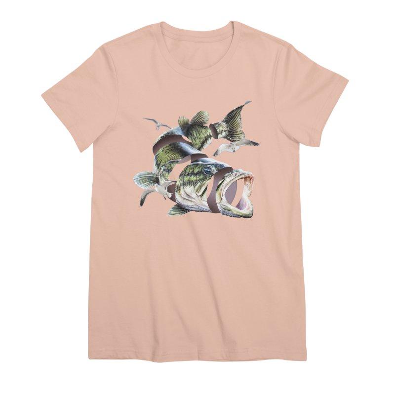 Flying Fish Women's Premium T-Shirt by Tom Burns