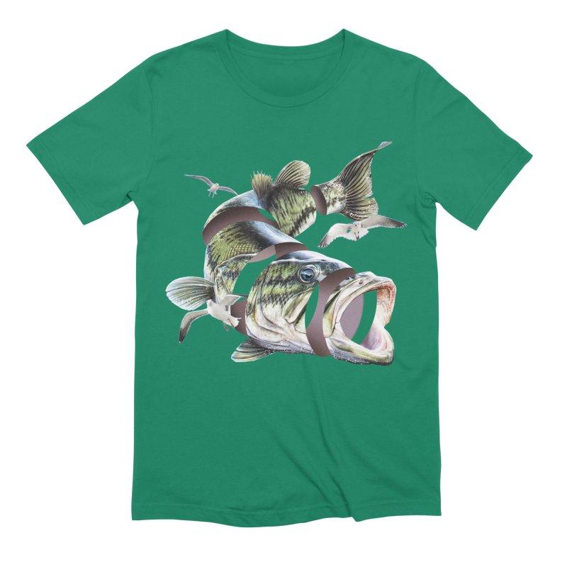 Flying Fish Men's Extra Soft T-Shirt by Tom Burns