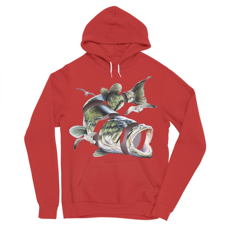 Flying Fish Women's Sponge Fleece Pullover Hoody by Tom Burns