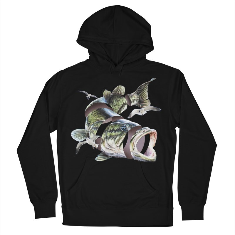 Flying Fish Men's French Terry Pullover Hoody by Tom Burns