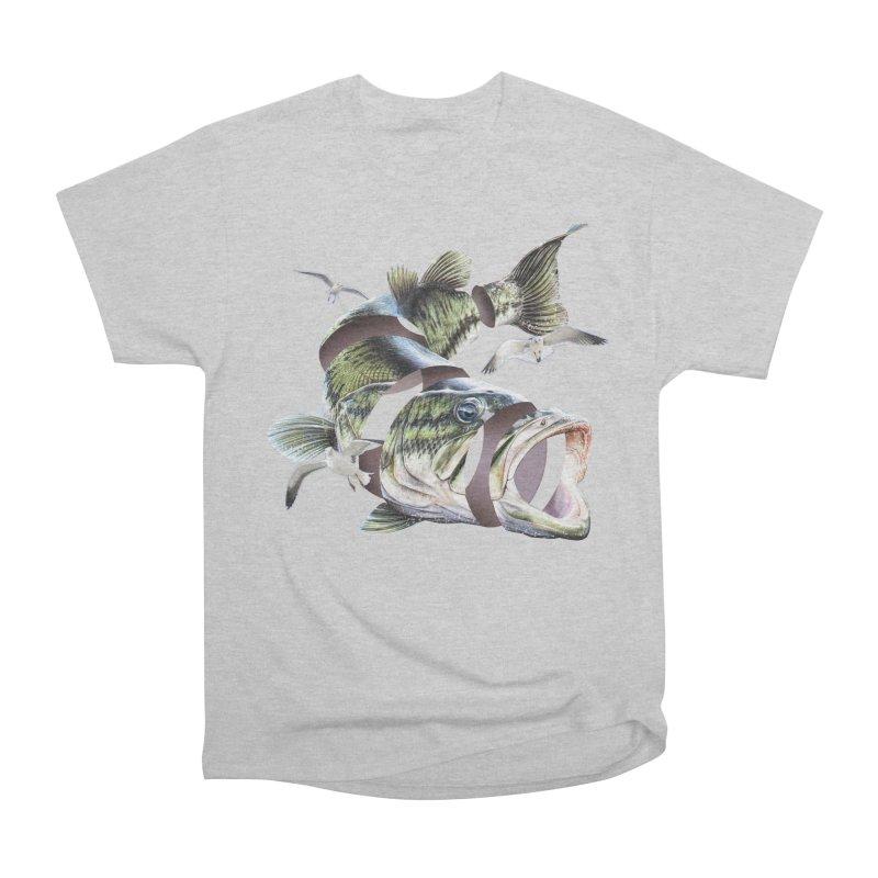 Flying Fish Women's Heavyweight Unisex T-Shirt by Tom Burns