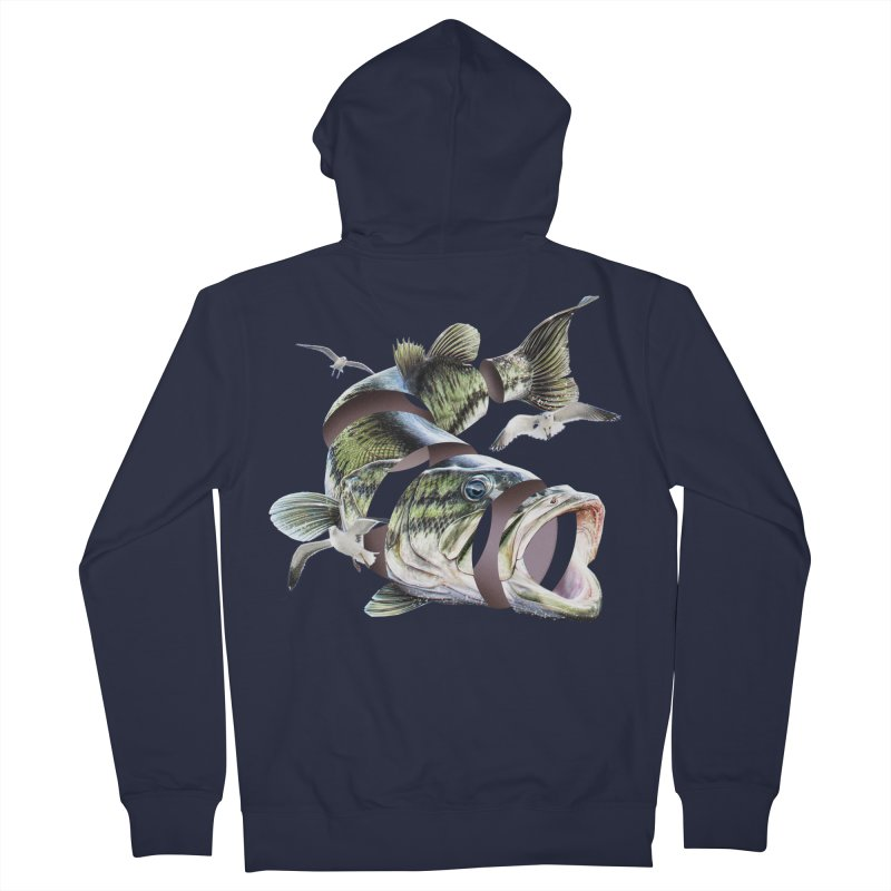 Flying Fish Women's French Terry Zip-Up Hoody by Tom Burns