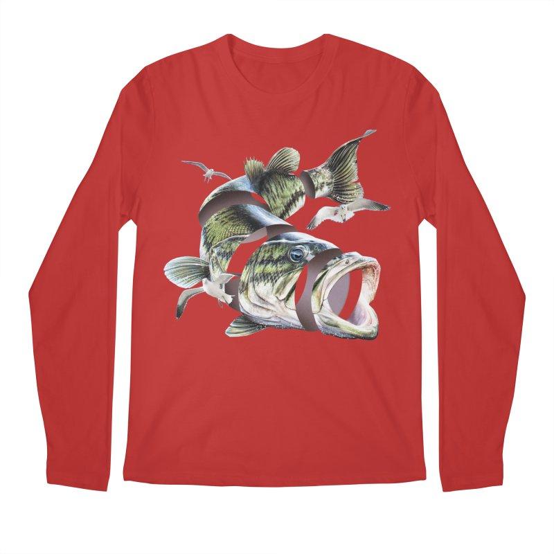 Flying Fish Men's Regular Longsleeve T-Shirt by Tom Burns