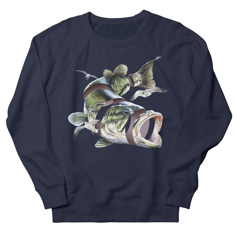 Flying Fish Women's French Terry Sweatshirt by Tom Burns