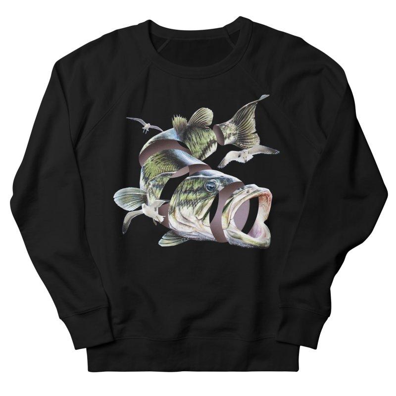 Flying Fish Men's French Terry Sweatshirt by Tom Burns