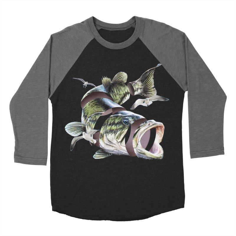 Flying Fish Women's Baseball Triblend Longsleeve T-Shirt by Tom Burns