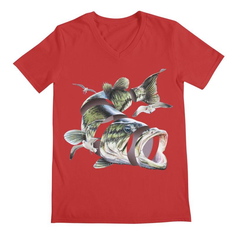 Flying Fish Men's Regular V-Neck by Tom Burns