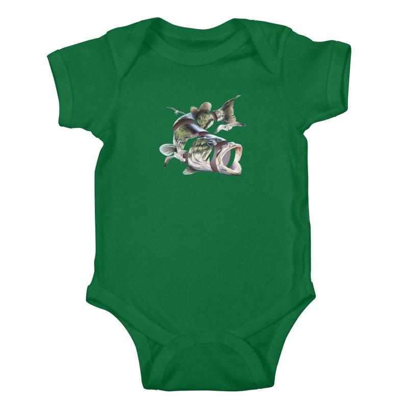 Flying Fish Kids Baby Bodysuit by Tom Burns