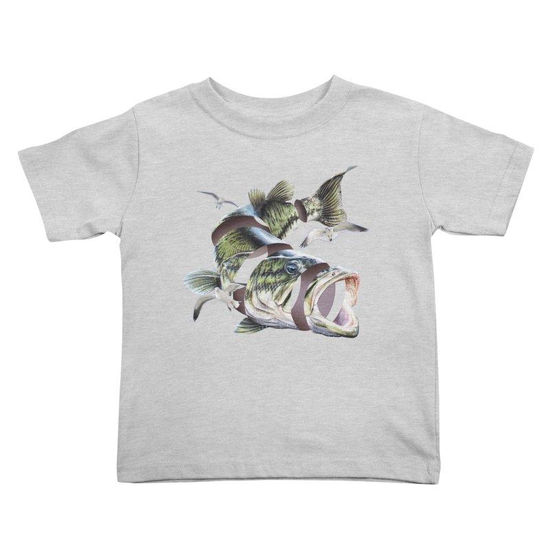 Flying Fish Kids Toddler T-Shirt by Tom Burns