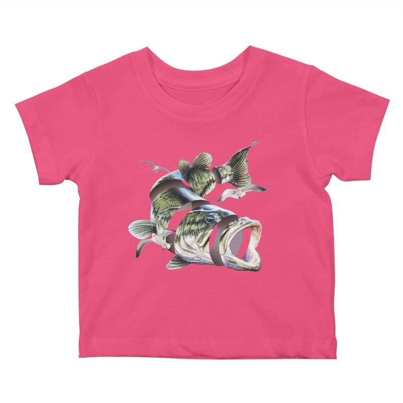 Flying Fish Kids Baby T-Shirt by Tom Burns