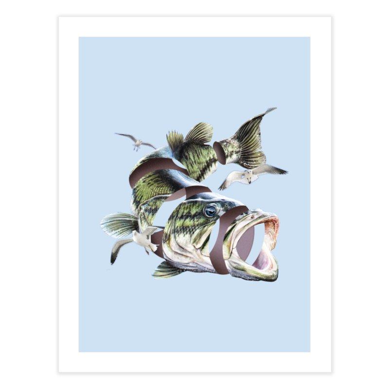 Flying Fish Home Fine Art Print by Tom Burns