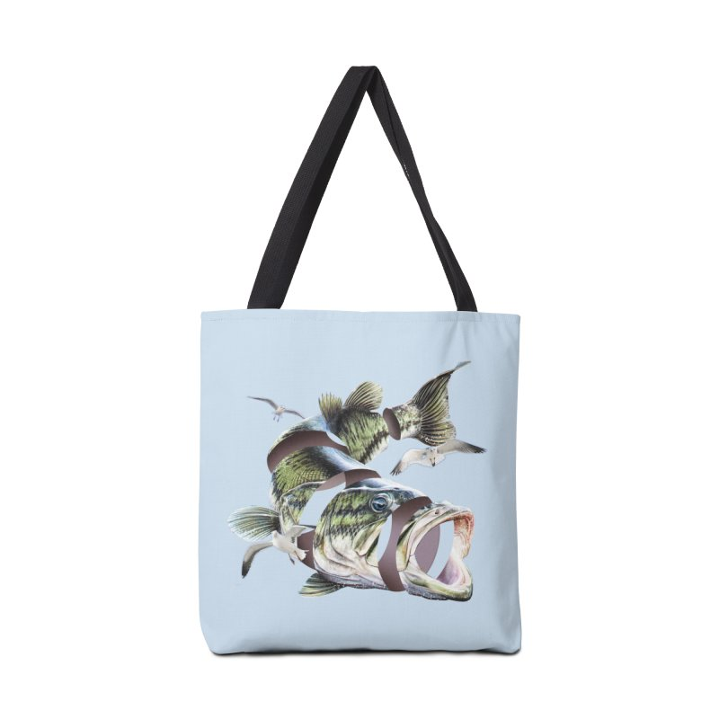 Flying Fish Accessories Tote Bag Bag by Tom Burns