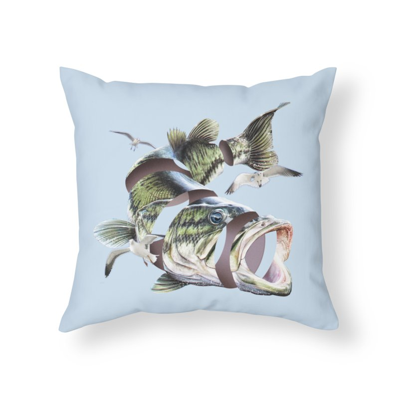 Flying Fish Home Throw Pillow by Tom Burns
