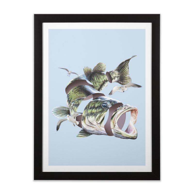 Flying Fish Home Framed Fine Art Print by Tom Burns