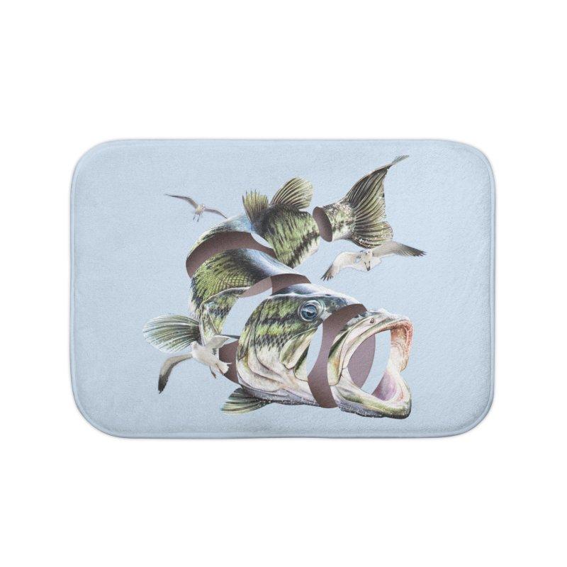 Flying Fish Home Bath Mat by Tom Burns