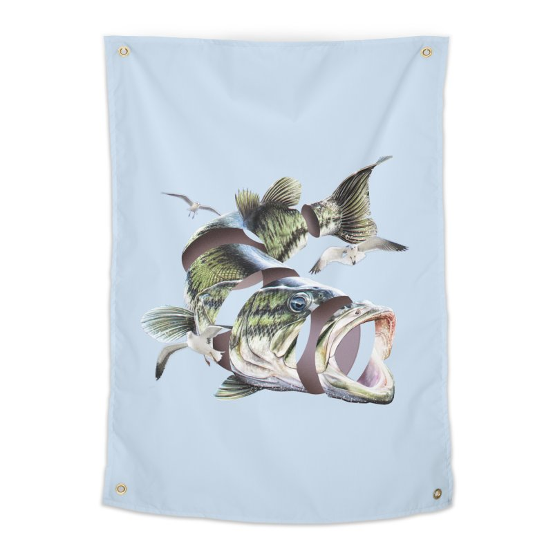 Flying Fish Home Tapestry by Tom Burns