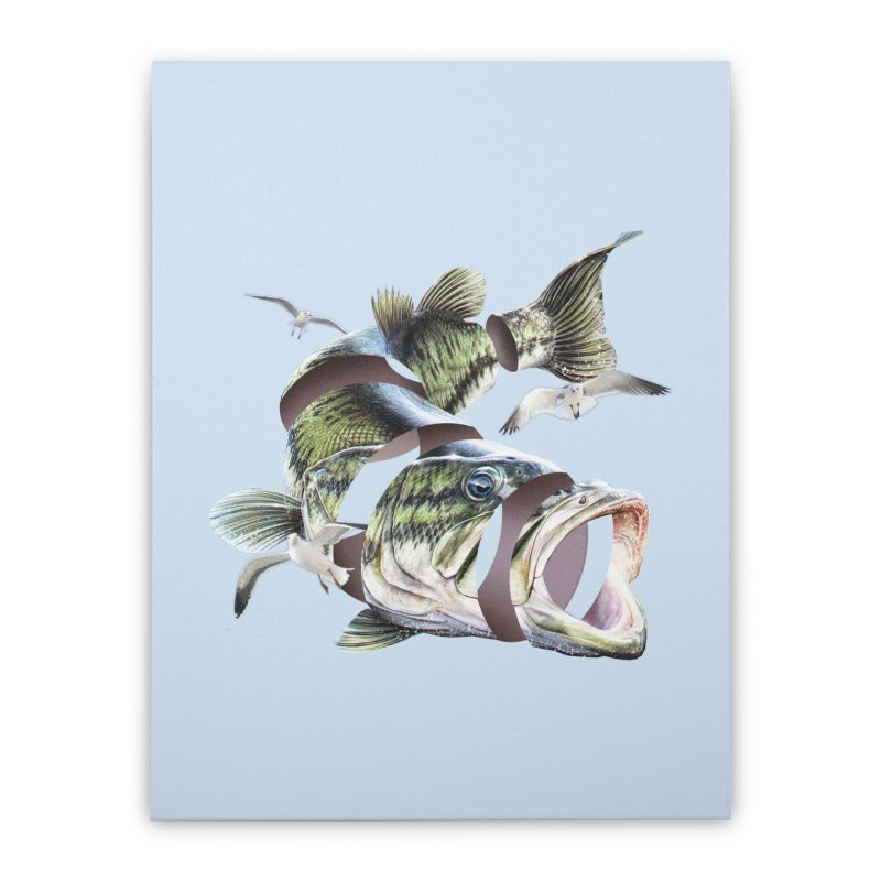 Flying Fish Home Stretched Canvas by Tom Burns