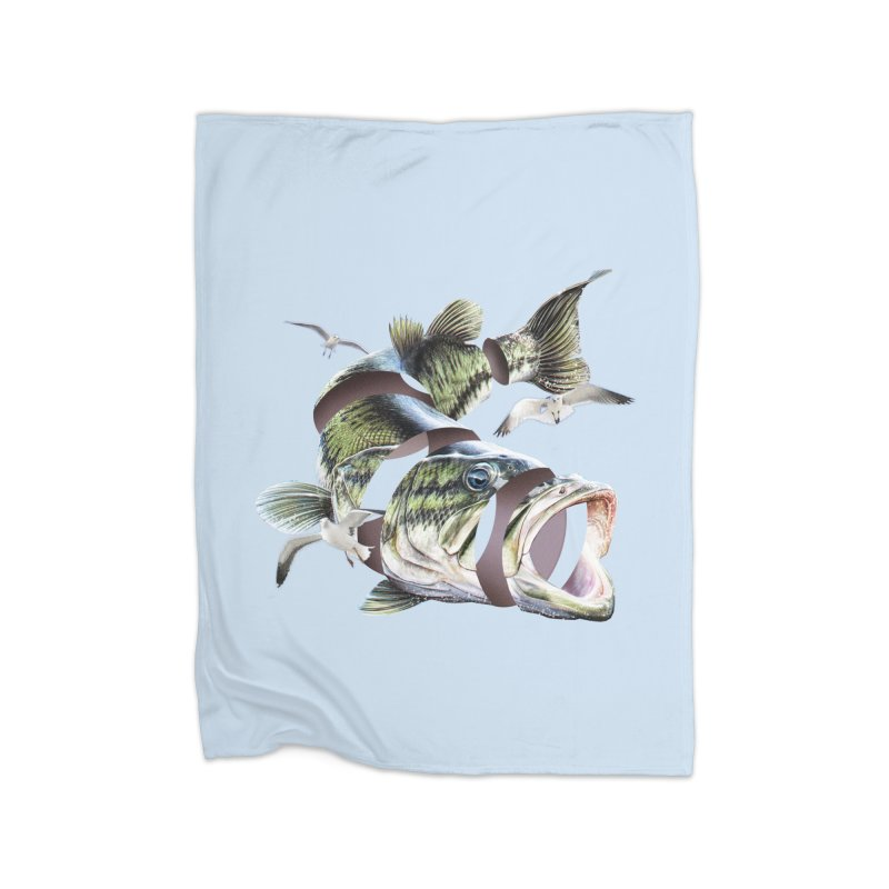 Flying Fish Home Fleece Blanket Blanket by Tom Burns