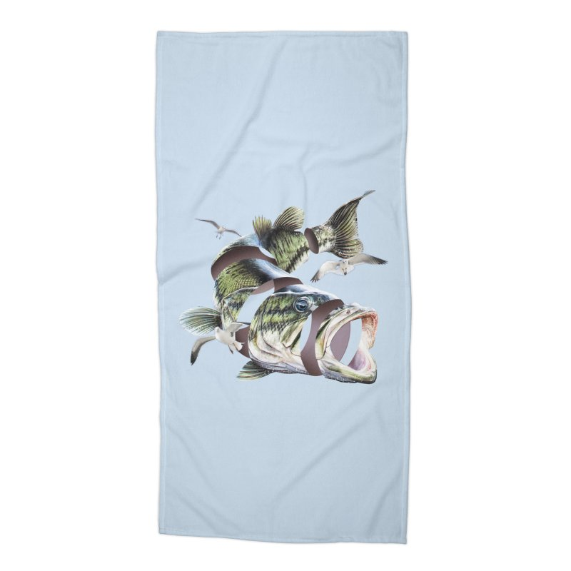 Flying Fish Accessories Beach Towel by Tom Burns