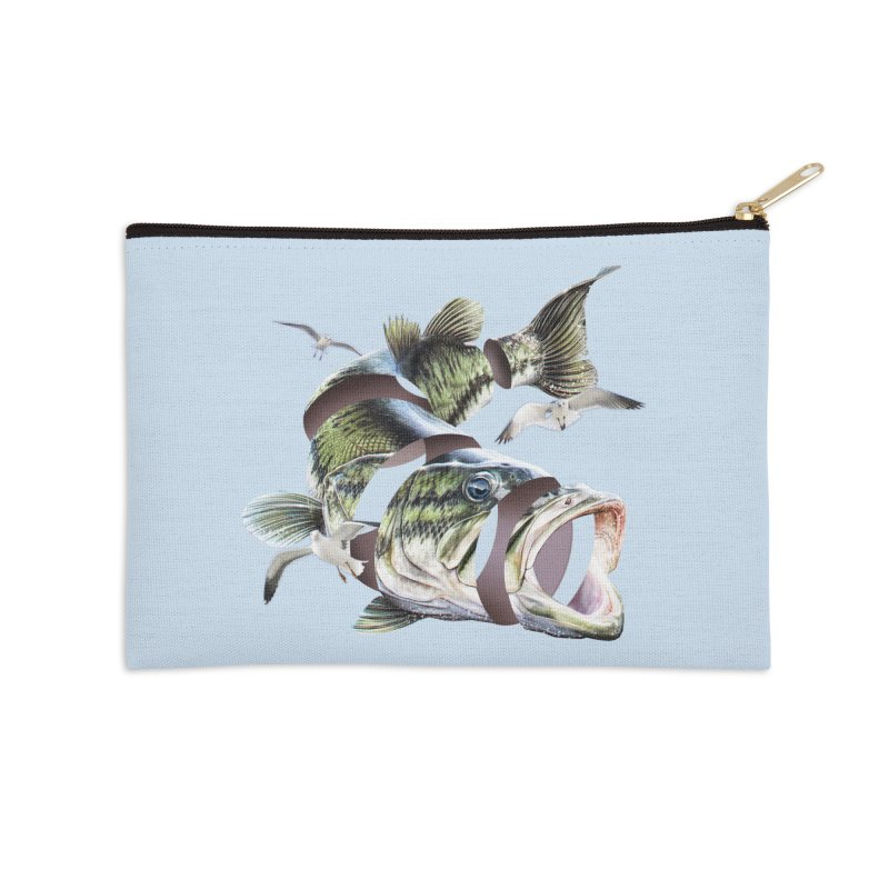 Flying Fish Accessories Zip Pouch by Tom Burns