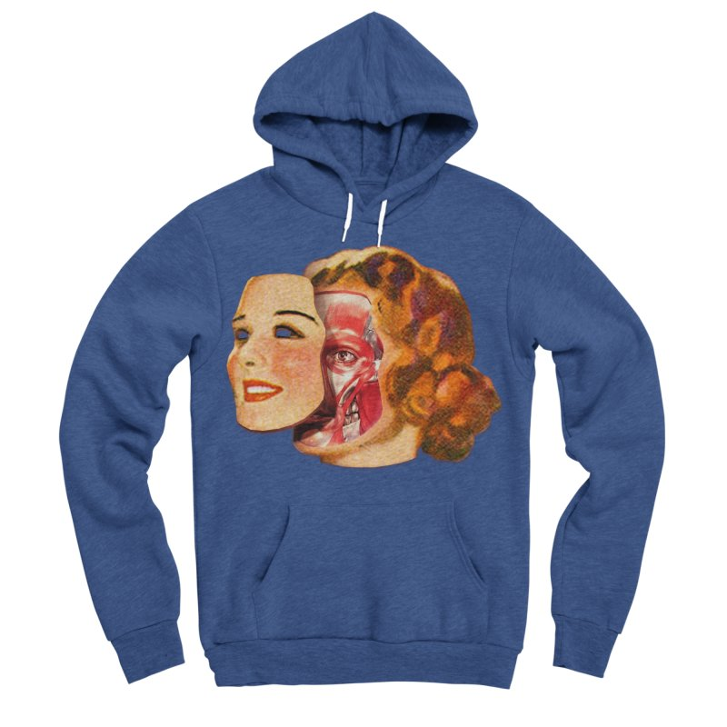 Lady Muscleface Women's Sponge Fleece Pullover Hoody by Tom Burns
