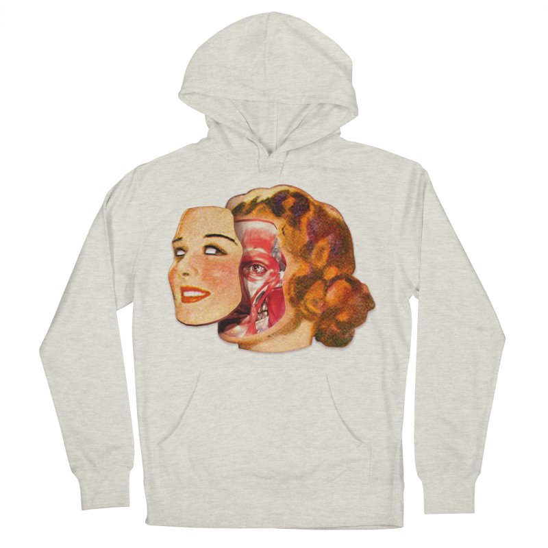 Lady Muscleface Women's French Terry Pullover Hoody by Tom Burns