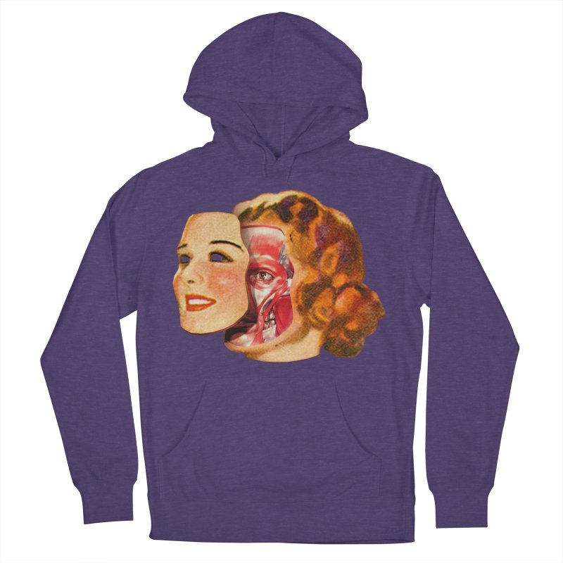Lady Muscleface Men's French Terry Pullover Hoody by Tom Burns
